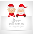 Santa claus and sheep with a place for text vector