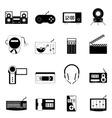 Electronic icon set vector