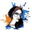 Girl ink hipster vector
