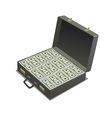 Briefcase with money vector