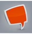 Orange cloud speech vector