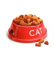 Bowl with cat feed vector