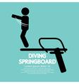 Diving springboard vector