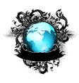 Grunge earth design vector
