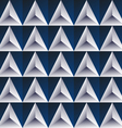 Blue regular triangular background vector
