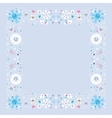 Snowflakes border winter frame design element vector