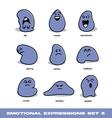 Emotional expressions set vector