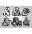 Set of stylish ampersands from different fonts vector