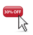 30 off button click vector