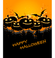 Halloween background with pumpkin and bat vector