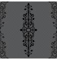 Vintage background ornament black frame vector