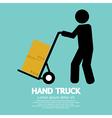 Hand truck vector