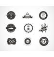Vintage sewing labels elements and badges vector