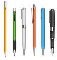 Pens and pencils vector