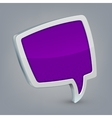 Purple cloud speech vector