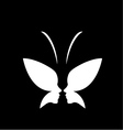Face of a lady and butterfly- logo concept for spa vector