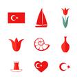 Turkey icon set vector