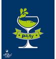 Alcohol theme art festive goblet with decor vector