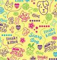 Doodle wallpaper vector