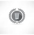 Trash can icon vector