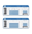 Airline boarding pass ticket vector