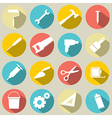 Working tools icons set 16 vector