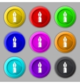 Pen sign icon edit content button set of colored vector