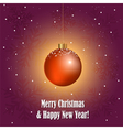 Christmas greeting card with decorative ball vector