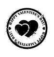 Black valentine stamp vector