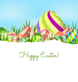 Happy easter eggs spring background vector