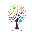 Tree with color leaves vector