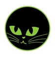 Black cat icon on the plate vector