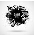 Music black blot vector