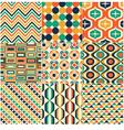 Seamless retro pattern print vector