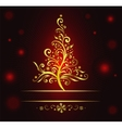 Classic christmas tree vector