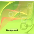 Abstract background in green orange yellow colors vector