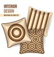 Set of decorative pillows vector