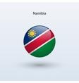 Namibia round flag vector