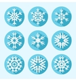 Flat snowflake icons vector