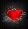 Valentines background with heart vector