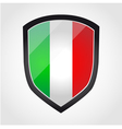 Shield with flag inside - italy - vector