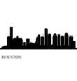 Houston city skyline silhouette background vector
