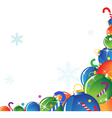 Christmas decorations and candy vector