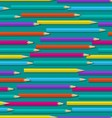 Seamless pattern with color pencils vector