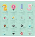 Calendar 2015 design template vector