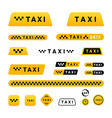 Taxi stylish set of logos icons and stickers vector