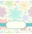 Background with multicolored snowflakes vector