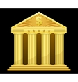 Gold bank vector
