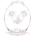 Gloves bride wedding accessories vector