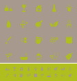 Spa treatment color icons on gray background vector